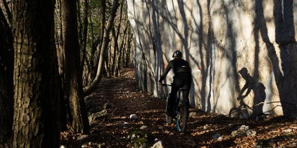Der Weg in der Nähe von Bocca di Tovo