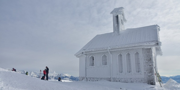 Iced over chapel