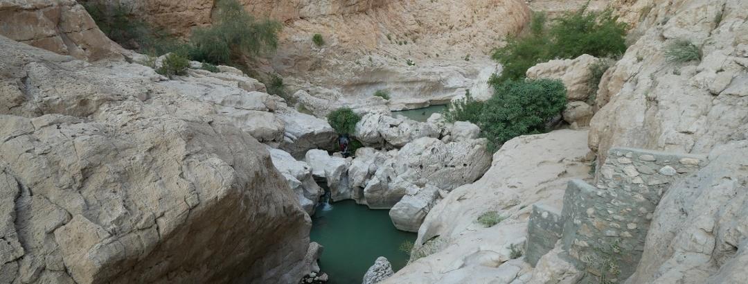 Aussichtsreiches Wadi Bani Khalid