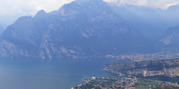 View over Torbole from the ridge of Segrom