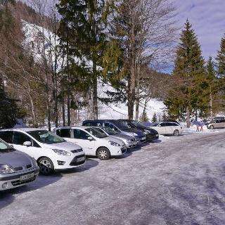 Parkplatz oberhalb der Planica Flugschanze