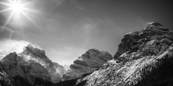 Vista della valle di Fanes