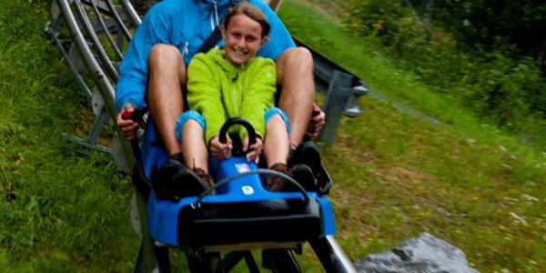 Sommerrodelpartie mit dem Alpine Coaster