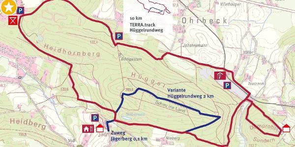 Auszug Schautafel Roter Berg, Hasbergen