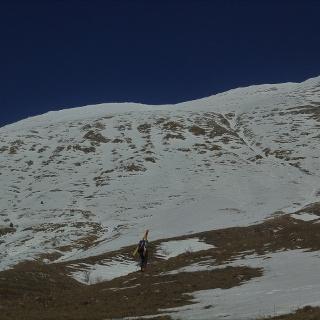 Verso il primo tratto di neve