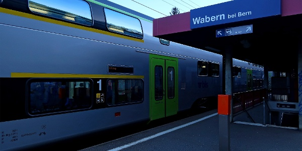 Bahnhof Wabern.