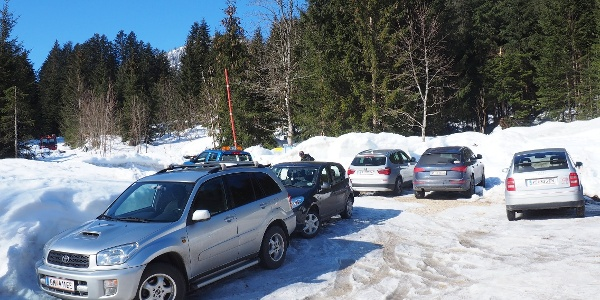 Kleiner Parkplatz Ramsau ~775m