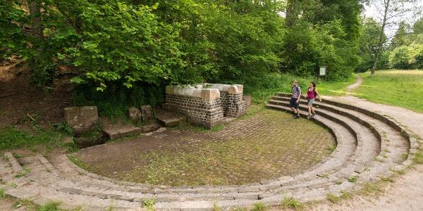 Der Grüne Pütz in Nettersheim- Quellfassung der römischen Fernwasserleitung aus der Eifel bis nach Köln
