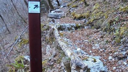 Markierung für den Soča-Weg