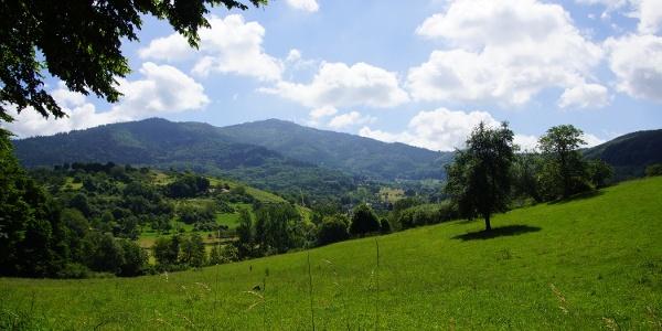 Blick vom Blauenblick in das Lipburger Tal