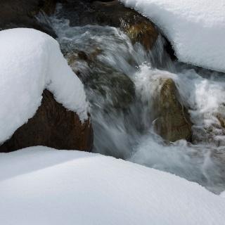 gefrorener Fluss