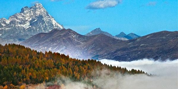 Der Monviso, 3848 m, hier von wenig oberhalb der Meira Garneri gesehen.