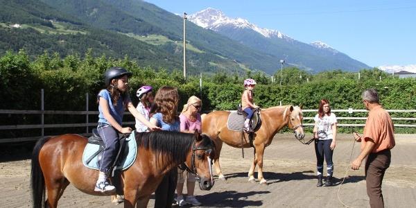 Horse riding in Silandro