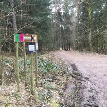 Hier rechts gehen, wenn man nicht am vorgesehenen Startpunkt geparkt hat