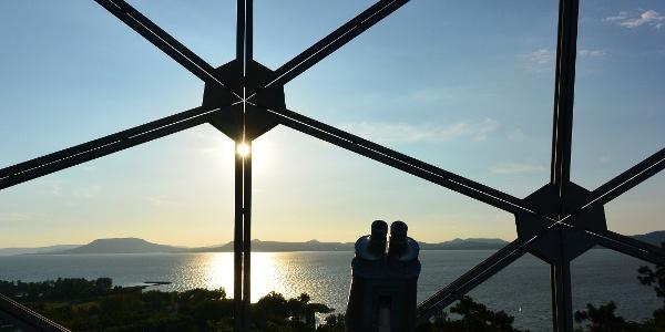 Lenyugvó Nap a Gömbkilátóból