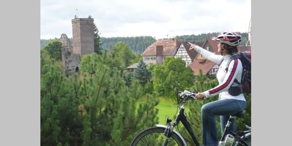 Aussicht auf Burgruine Zavelstein