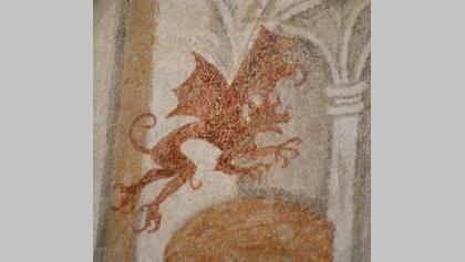 Detail der Wandmalerei