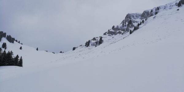 Blick Richtung Südwest von der Lechaschauer Alm zum Tiefjoch