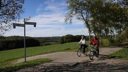 Auf dem Schinderhannes-Radweg