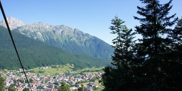 Panorama di Andalo dalla cabinovia