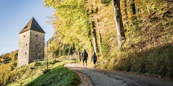 Der Ausgangspunkt der Tour: Der Schellenberger Wehrturm
