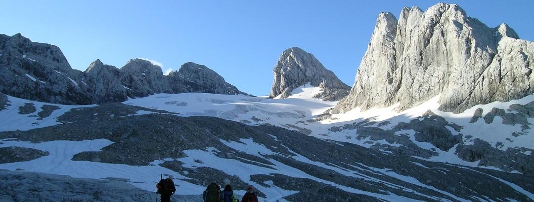 Von der Adamekhütte zum Großen Gosaugletscher