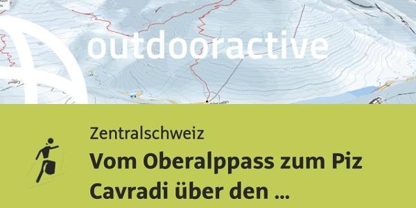 Skitour in der Zentralschweiz: Vom Oberalppass zum Piz Cavradi über den Pazzolastock
