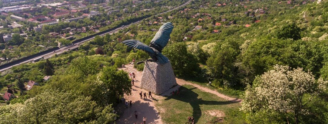 The turul guarding over Tatabánya