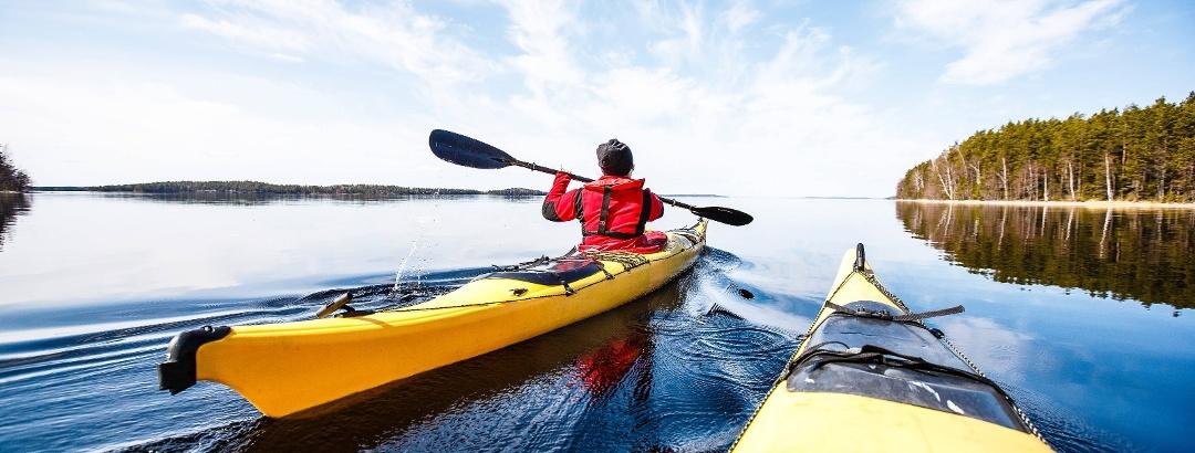Kayaking in Saimaa