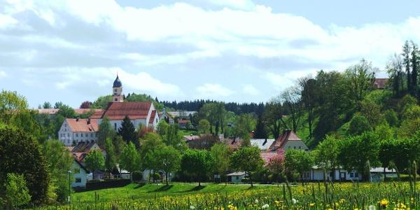 Stiftskirche über Bad Grönenbach