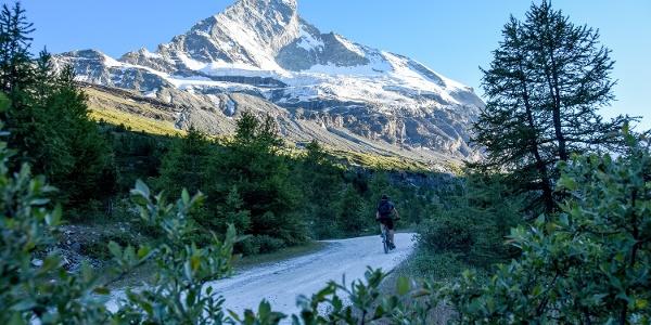 Der Blick auf die Matterhorn-Nordwand ist überwältigend.