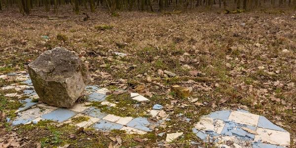 Pár járólap az erdőben: ennyi maradt a Kis-réti vadászházból