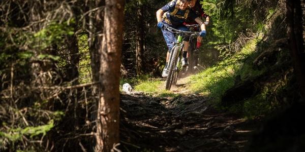 Biker im Wald
