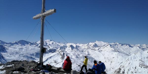Weißeck 2.711 m / Blick nach Süden zu Hochalmspitze und Ankogel
