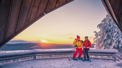 Jyppyrä Lean-To Shelter is great place for snowshoe trips and northern lights also.