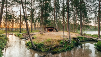 Schutzhütte in Hossa