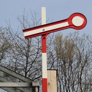 Zugsignal am Bahnhof Niederdresselndorf