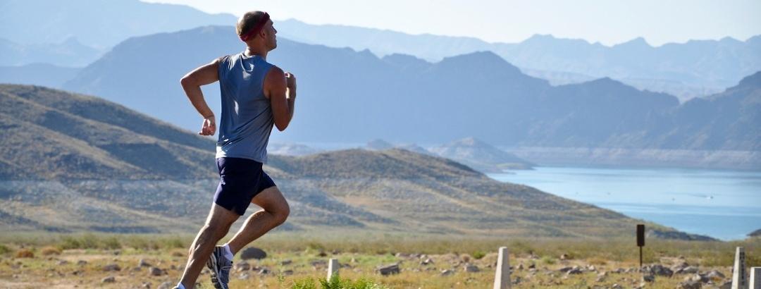 Runner in the field