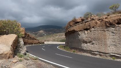 La carretera TF-28 en Tenerife