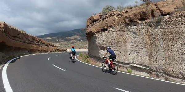 On the way on the TF-28 in Tenerife