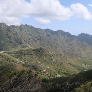 Salida de las montañas de Anaga hacia San Andrés