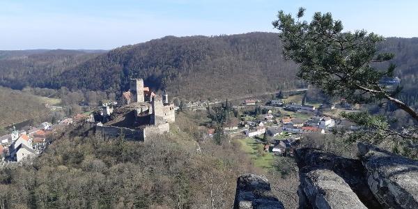 Aussicht vom Maxplateau auf die Stadt Hardegg