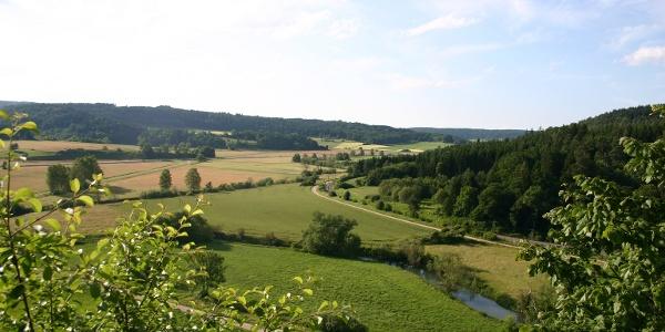 Aussicht von Ruine Hertenstein Richtung Jungnau