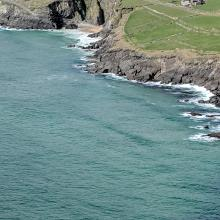 Coming down to Dunmore Head