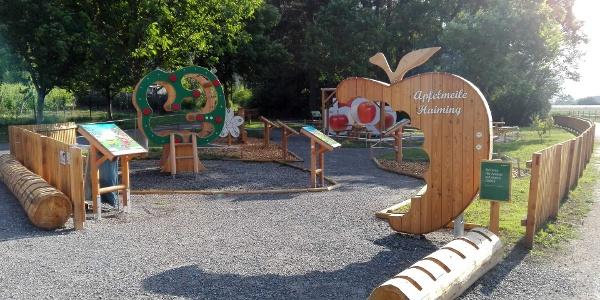 Spielplatz Apfelmeile mit E-Bike Ladestation