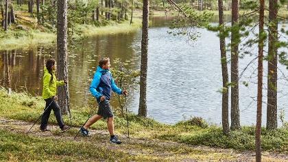 Hiker in Pyhä-Luosto