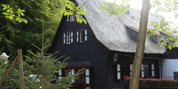 Blockhaus: ideal zum Rasten