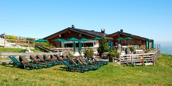 Weltcup Hütte an der Bergstation des Weltcup-Express