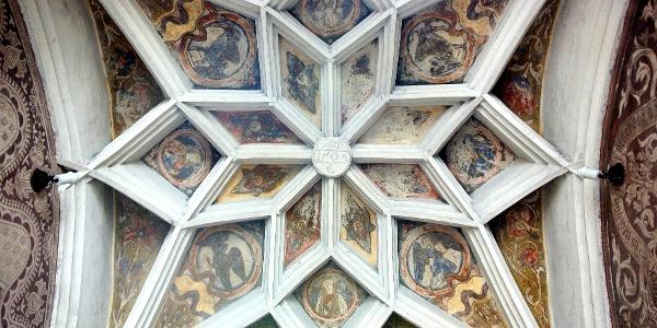 A nagymarosi Szent Kereszt felmagasztalása-templom gótikus csillagboltozata
