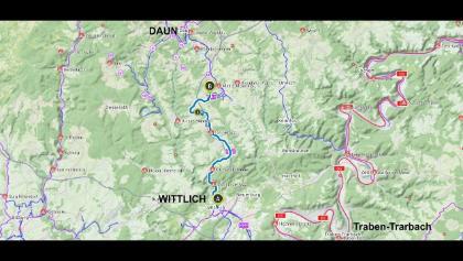 46 km, 360°-Video, Maare-Mosel-Radweg, Wittlich bis kurz vor Daun